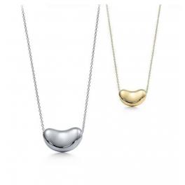 Bean Halskette gold/silber