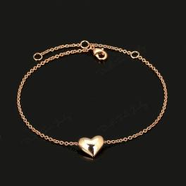 Armkette Herz rotgold
