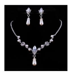 Perlen Schmuckset Silber