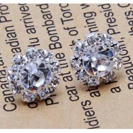 Ohrringe Kristall silber
