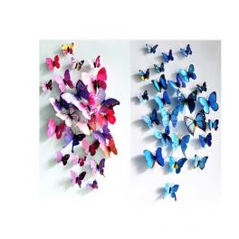 Wandsticker Schmetterling 12-teilig