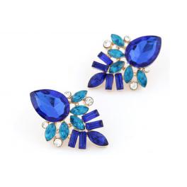 Ohrringe Strass blau