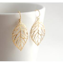 Filigrane Ohrringe Blatt gold/silber