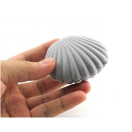 Mini Muschel Schmuckbox grau