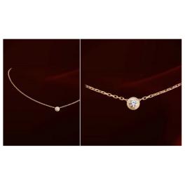 Filigrane Halskette Kristall rotgold
