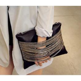 Schwarze Rocker Handtasche