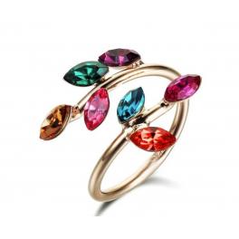 Bunter Ring rotgold