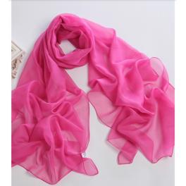 Chiffon Schal schwarz pink